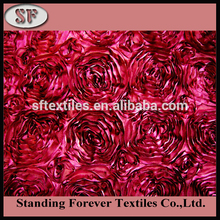 Polyester Flower 3d rose fabric for wedding