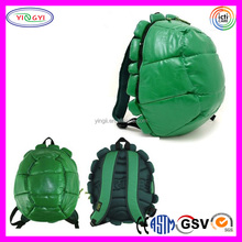 B233 Soft Shell Backpack Turtle Green Plush Kids Book Bag Turtle Backpack
