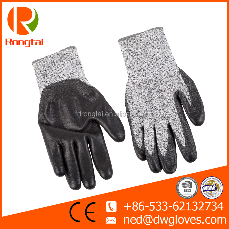 Cut resistant nitrile coated gloves work safety