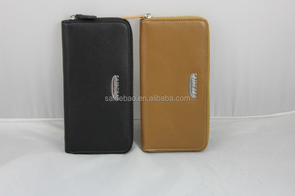 High Quality New Fashion Promition Genuine leather men's wallet with customized logo