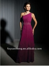 mock -draped skirt hand -bead waistband mother of the groom dressFYH-MQ07