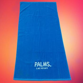Whole 100% cotton beach towel with custom embroidery logo