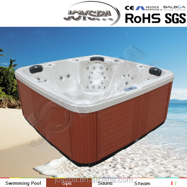 Hot sale 5 persons balboa music system massage freestanding acrylic whirlpool outdoor hydro spa hot tub