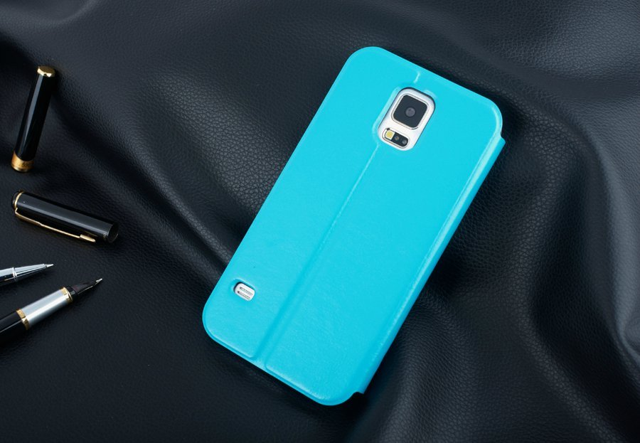 For Samsung Galaxy S5 i9600 view window Leather case with Holder