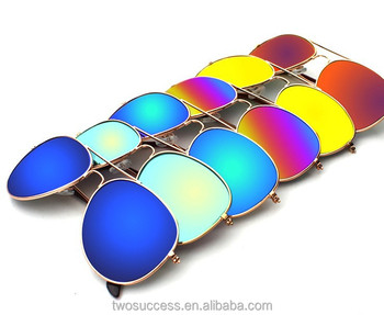 2017 NEW Promotion 3026 shinning 3025 Glasses frog mirror Sunglass For women and men