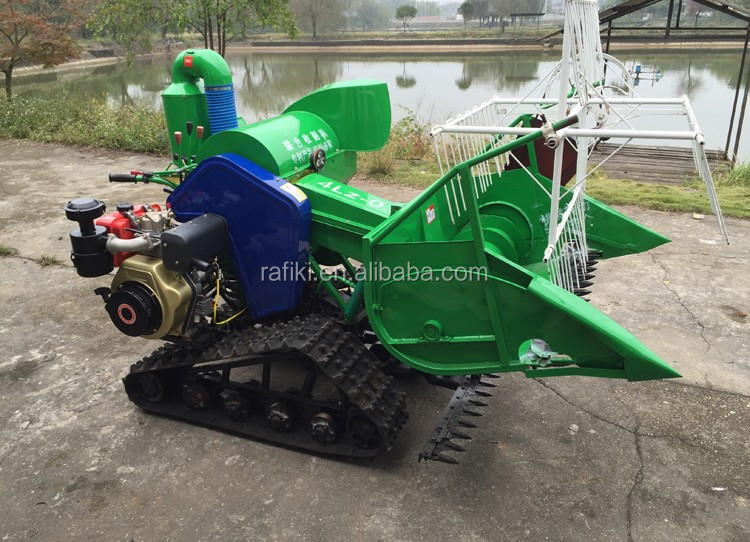 Supply rice harvest machine mini rice harvester Combined small rice harvest machine