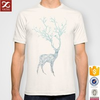 Blue Deer Printed T-Shirt for Man