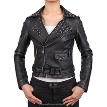JOYOO Brand 2018 latest women slim warm pu synthetic leather jacket