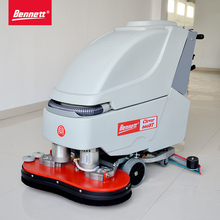 dual-brush floor scrubber with Ametek motor