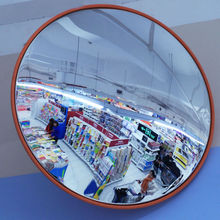 large round acrylic wall mirror for public places