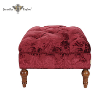 Traditional bedroom furniture sets tufted fabric sofa ottoman bench seat