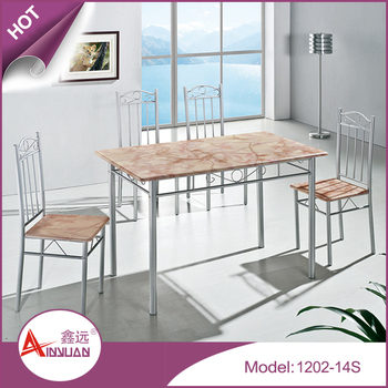 Factory directly sales MDF table and chairs ,dining table set , table and chairs/ 4 seaters dining tables