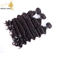 "Mongolian raw human hair weaving on sale 10--30"" intock fast shipping hot selling hair grade bulk hair"