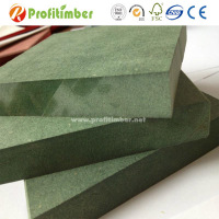 Outer With Green Paint Coloured Board Sheet Waterproof MDF