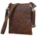 7118R 100% Genuine Vintage Leather Men's Dark Brown Tablet Read Accessorie Holder Messenger Across Body Bag