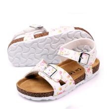 AL1006SC 2017 new kids cork sandals flip flop tide beach shoes girls fancy sandals