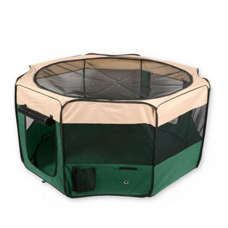 Comfortable 3 Runs Dog Runs Playpen With Fight Guard Dividers Top