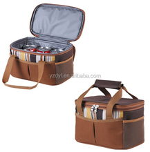 Custom 600D polyester 12 cans insulated beer cooler bag