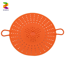Heat Resistant microwaveable dishwasher safe orange silicone steam basket
