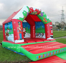 2015 Santa Claus Inflatable Bouncing Castle, Cheap Bouncy House With Slide