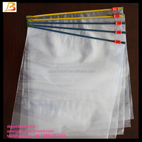Ldpe printed slider zipper bag/transparent zip lock plastic packing bag for file,garment,scarf