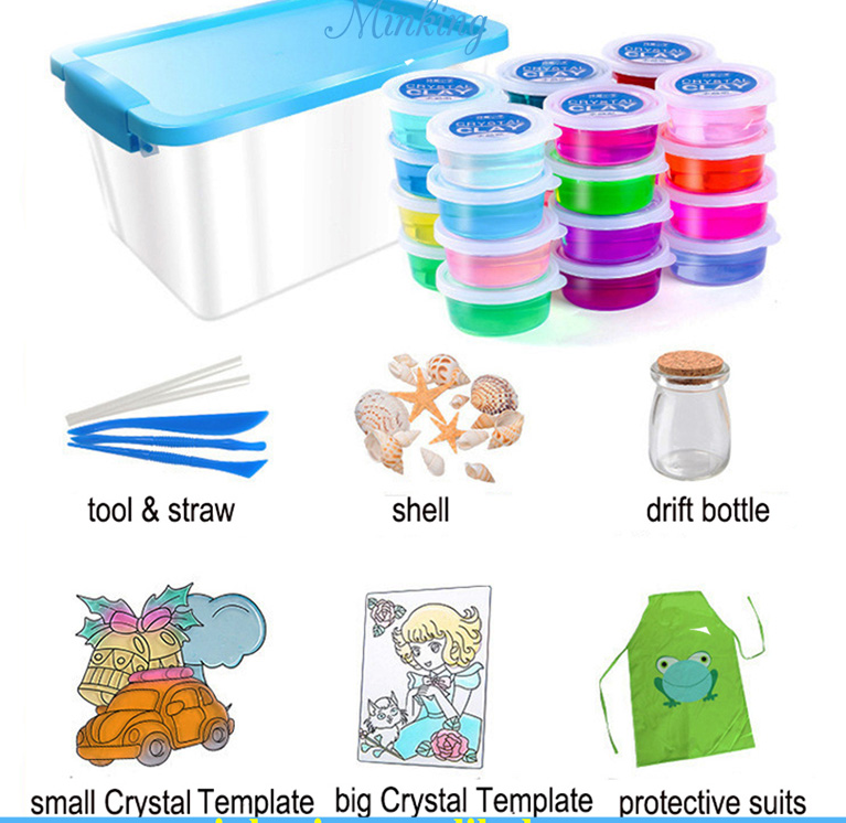 High Quality Crystal Slime Making Kit Comes with 24 Colors Slime Set for <strong>Kids</strong> Aged 6+