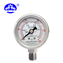 Attractive YNBF40 No Radial edge 0~1MPA stainless steel pressure gauge
