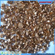 golden color all side mirror glass chips