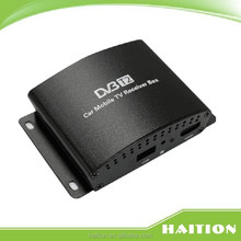 Latvia car dvb-t2 digital tv box tv receiver HD PVR can work in high speed 180km/h tv tuner for Latvia Thailand Russia