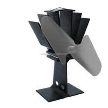 2 blades heat powered stove fan