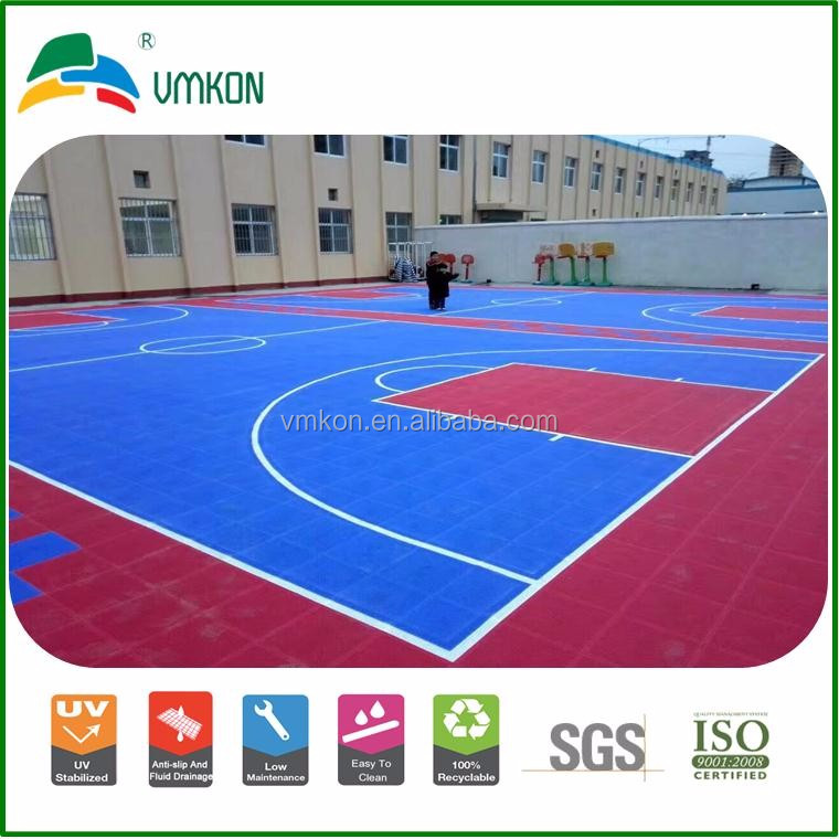 vmkon plastic floor tile portable 3x3 basketball court interlocking soft flooring vsa-303010