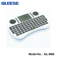 Dongguan factory 2.4G wireless mini Rii i8 keyboard and Fly Air mouse Touchpad for mini PC Android TV Box
