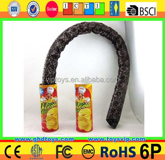Jumping Snake Potato Chips Joke game Toys kids joke toys
