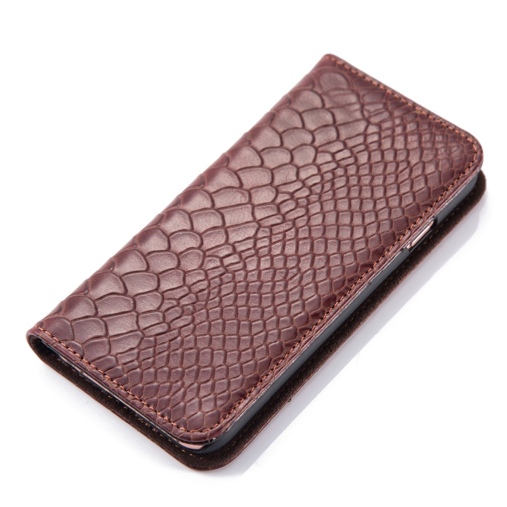 Luxury Leather Black Wallet Case Magnetic Flip Cover Stand For Apple iPhone 6/6S