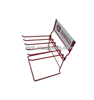 Customized Small Metal Hanging Wire Display Rack / Peg Hook Rack for Supermarket Store Use