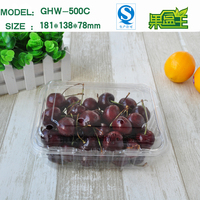 Recyclable Pastic PET Fresh Fruit Blister Rectangular Packaging
