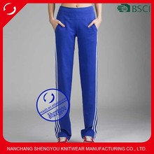 Wholesale custom quality cotton plain women jogger trousers