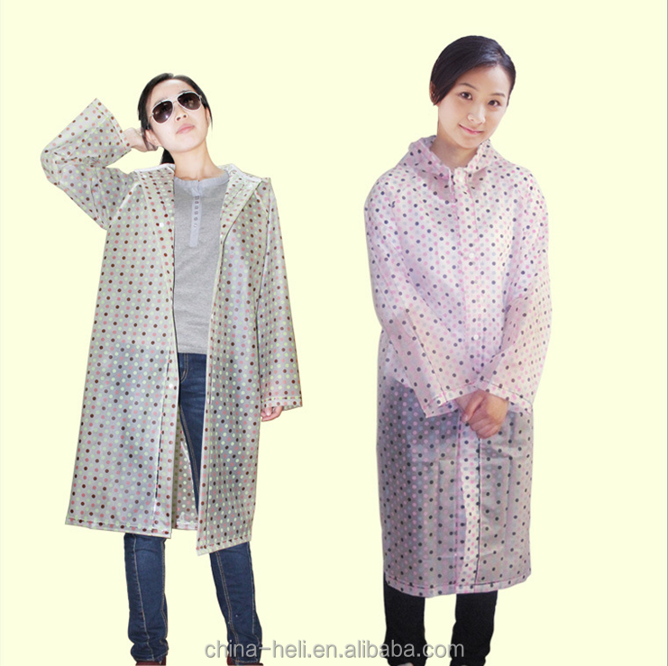 printed long floral rain coat rubber
