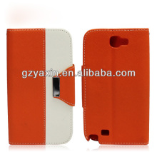Newest Good Quality Luxury Leather Cell Phones Case Low Price For Samsung Galaxy Note2