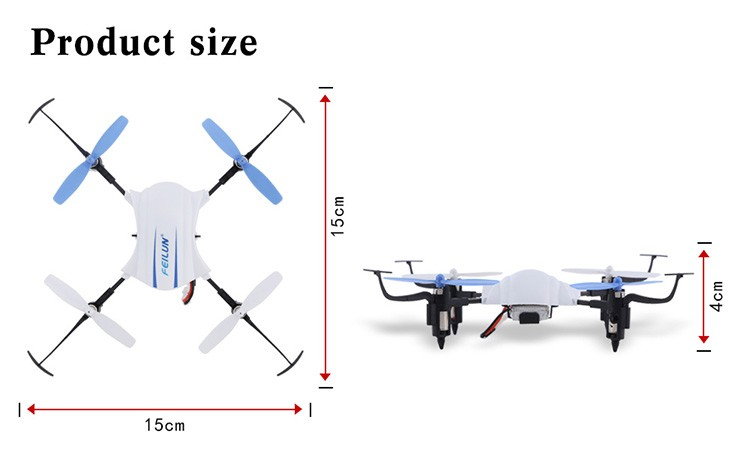 2.4G 4.5CH 15cm headless mode 3D inverted flight rc quadcopter 6 axis