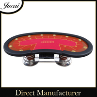 Casino wooden poker table