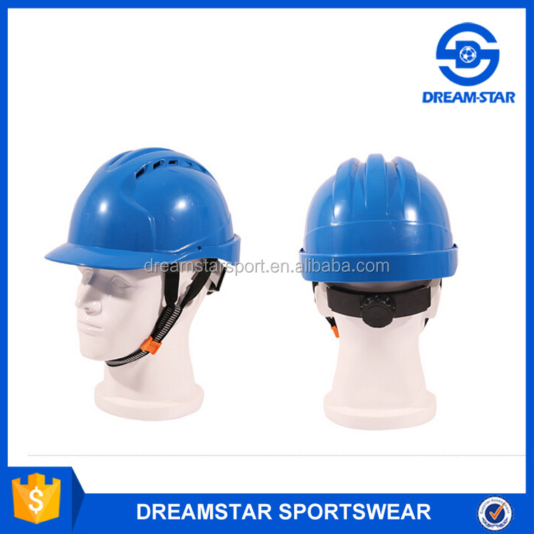 Light Blue Factory Safety Helmet With Chin Strap
