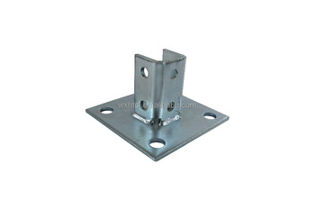 Galvanized Square Post Base for strut channel