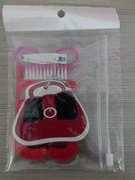 Hand bag shape manicure set,red nail care tools set