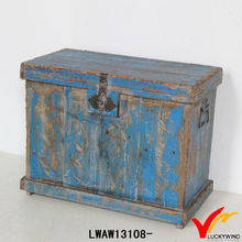 distressed blue country shabby chic reclaimed wooden garden box