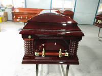 wood veneer funeral caskets coffin supplies accessories