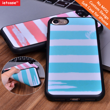 Manufacturer 2D TPU customorized colorful stripe mobile phone accessories back cover case for iPhone 6/6s 6 Plus 7 7Plus