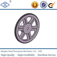 DIN ISO standard 45C metal material 5/8''*3/8'' 10B-3 roller chain 23T pitch 15.875 roller 10.16 triplex sprocket