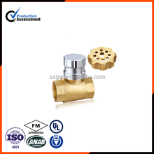 Brass Magnetic lockable ball valve with high quality
