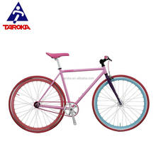 OEM COLOURFUL HI TEN STEEL 700C SINGLE SPEED FIXED GEAR BIKE